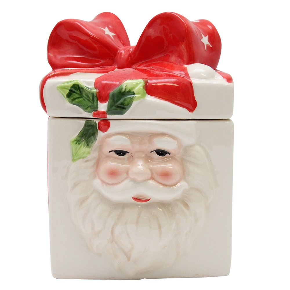 Recipient Christmas Din Ceramica Crem 11x11x12 Cm