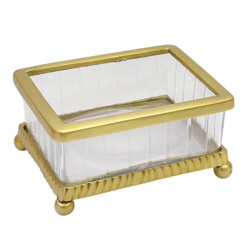 Recipient Decorativ Gold 12x9x6 Cm