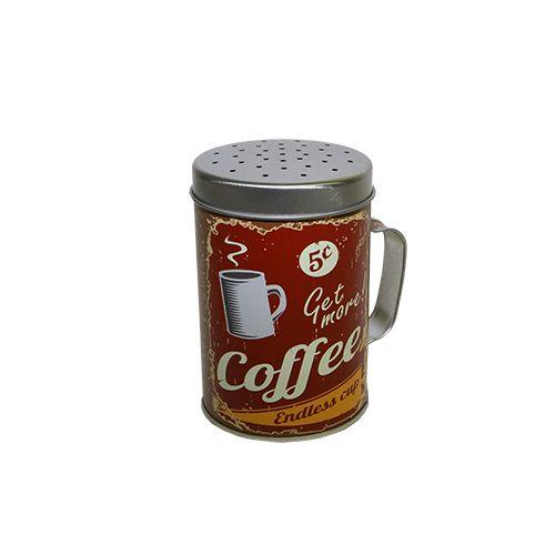 Recipient Din Metal Red Coffee 10 Cm