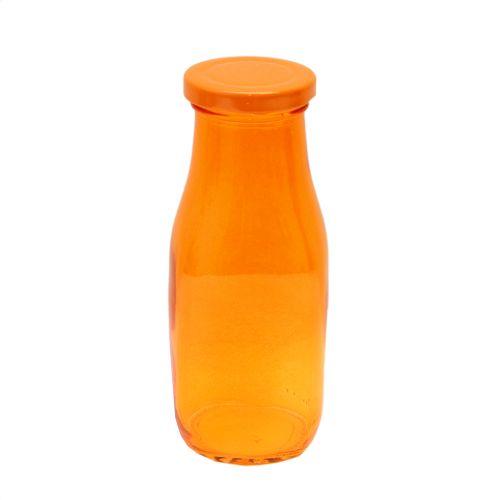 Recipient Sparkling Orange Din Sticla Cu Capac Portocaliu 300 Ml