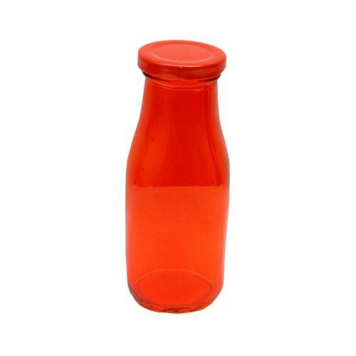 Recipient Sparkling Red Din Sticla Cu Capac Rosu 300 Ml