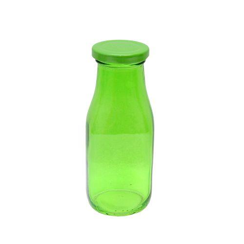 Recipient Sparkling Green Din Sticla Cu Capac Verde 300 Ml