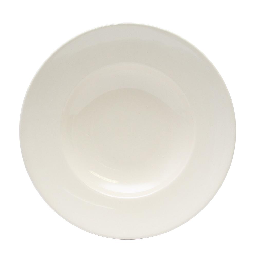 Farfurie Italian Pasta Din Ceramica Alba 22 Cm