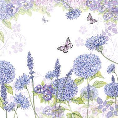 Servetele Purple Flower Tei Straturi Din Hartie 25x25 Cm