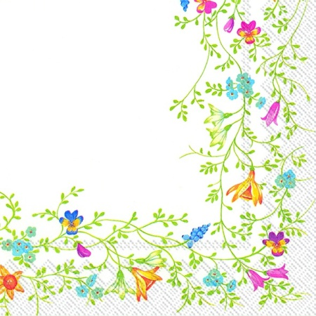 Servetele De Masa Spring Cu Model Floral 33x33 Cm