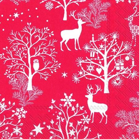 Servetele Christmas Red 25x25 Cm