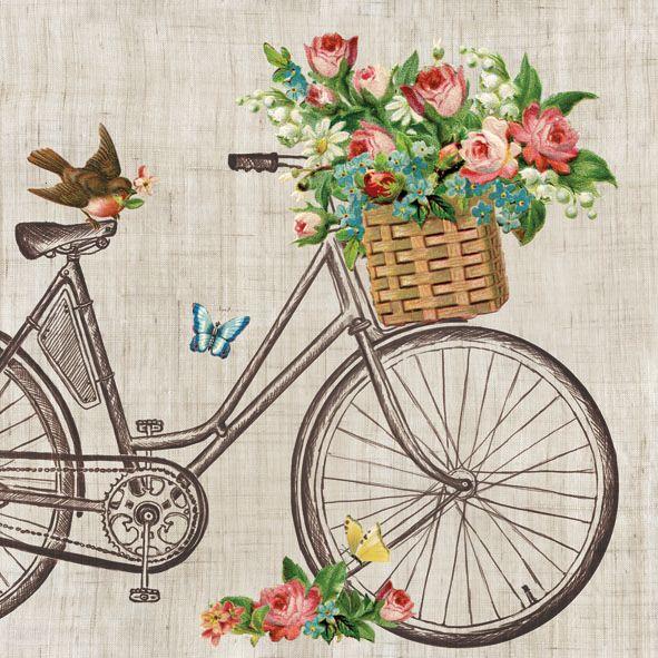 Servetele Decorative Din Hartie Cu Bicicleta 20 Bu