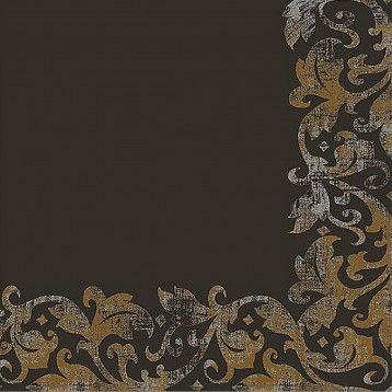 Servetele Decorative Din Hartie Neagra Cu Flori 40 Cm