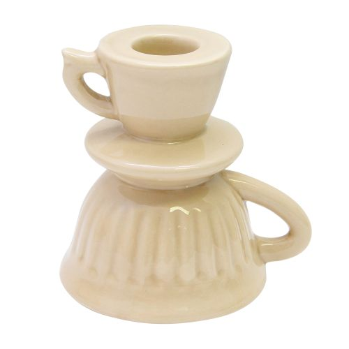 Sfesnic Ceasca Din Ceramica Bej