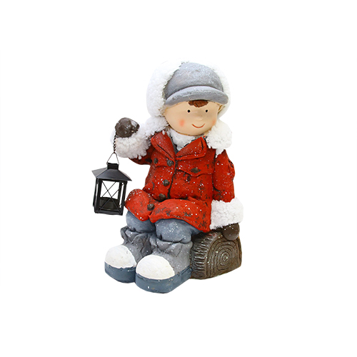 Statueta Christmas Boy Din Ceramica 28x30x42 Cm