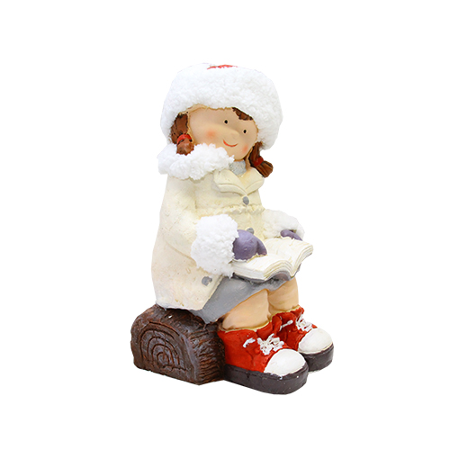Statueta Christmas Girl Din Ceramica 20x22x38 Cm