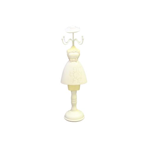 Suport Pentru Bijuterii White Dress 9x8x32 Cm