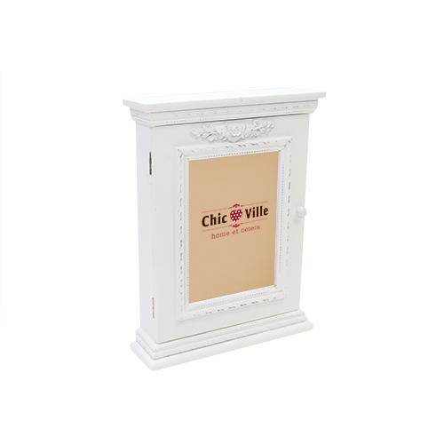Suport Pentru Chei Classic Din Lemn Alb 23x7x30 Cm