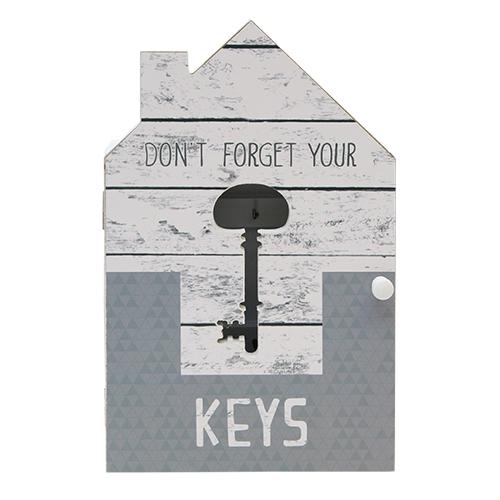Suport pentru chei Kassa din lemn gri 17x6x29 cm