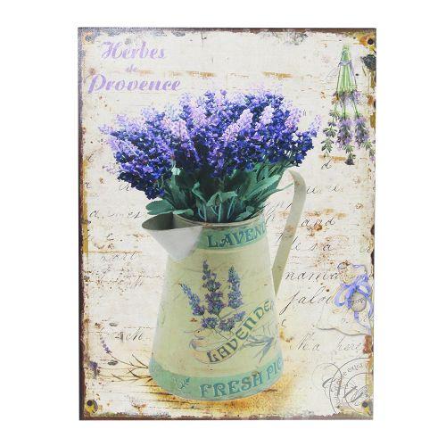 Tablou Lavender Din Metal 25x33 Cm