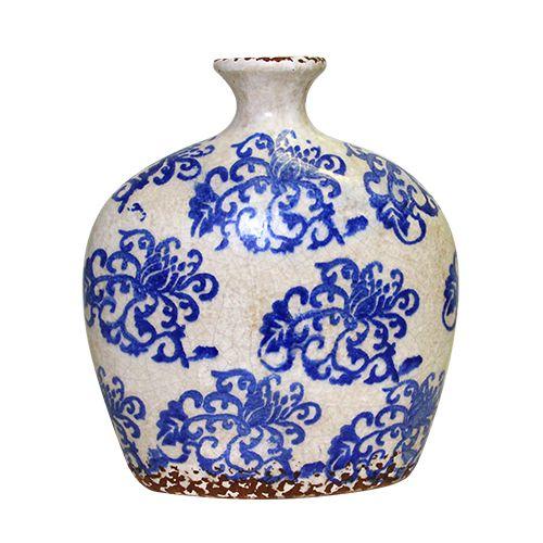 Vaza Ceramica Oriental Blue 25 Cm