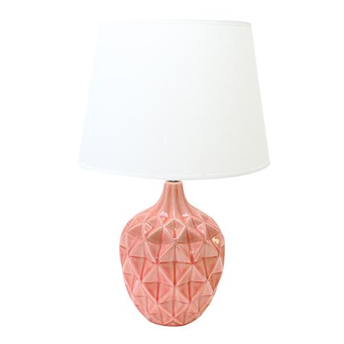 Veioza Melody Din Ceramica Roz 32x51 Cm