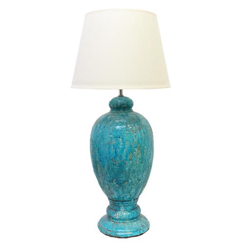 Picior De Veioza Old Blue Din Ceramica Turcoaz 50