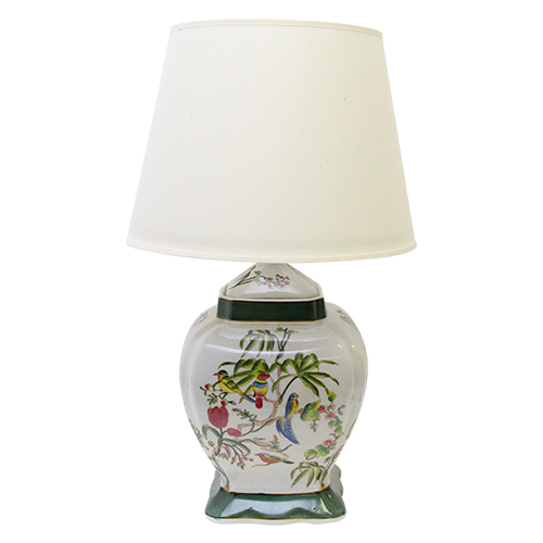 Picior Veioza Tropical Din Ceramica 22x22x40 Cm