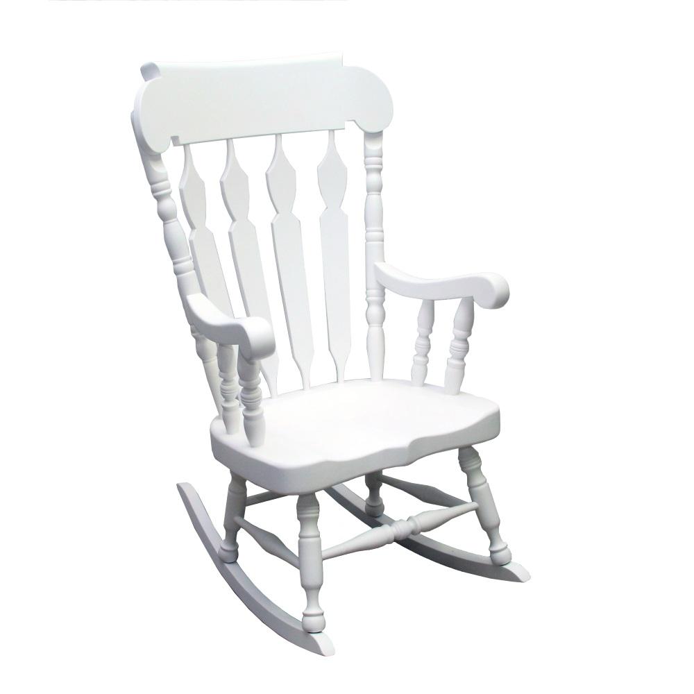 Balansoar Volline din lemn alb 82x67x115 cm