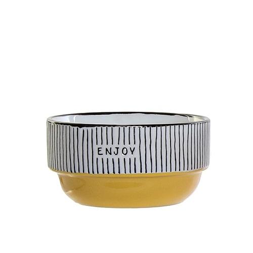 Bol Colors Enjoy din ceramica galbena 12 cm chicville 2021
