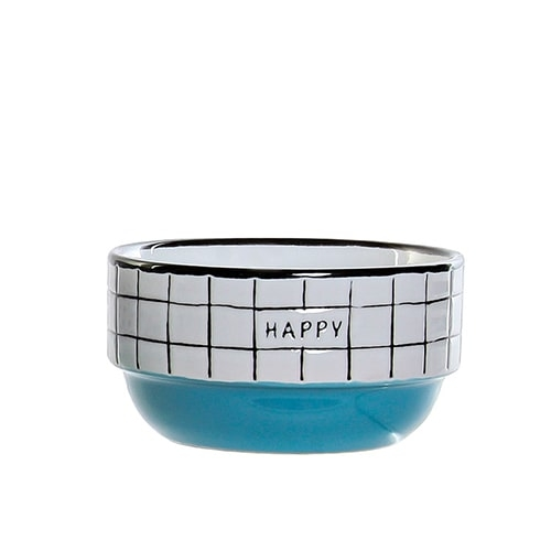 Bol Colors Happy din ceramica albastra 12 cm chicville 2021