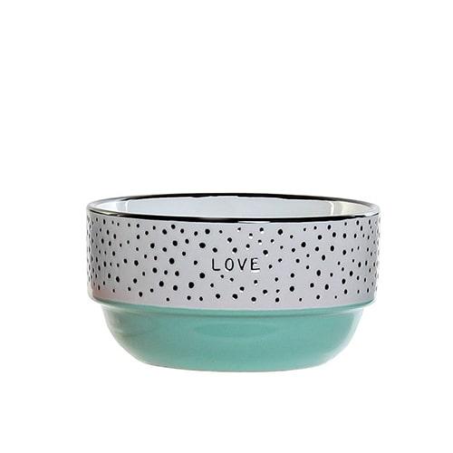Bol Colors Love din ceramica turcoaz 12 cm chicville 2021