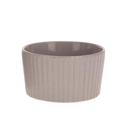 Bol Groove din ceramica maro 7 cm chicville 2021