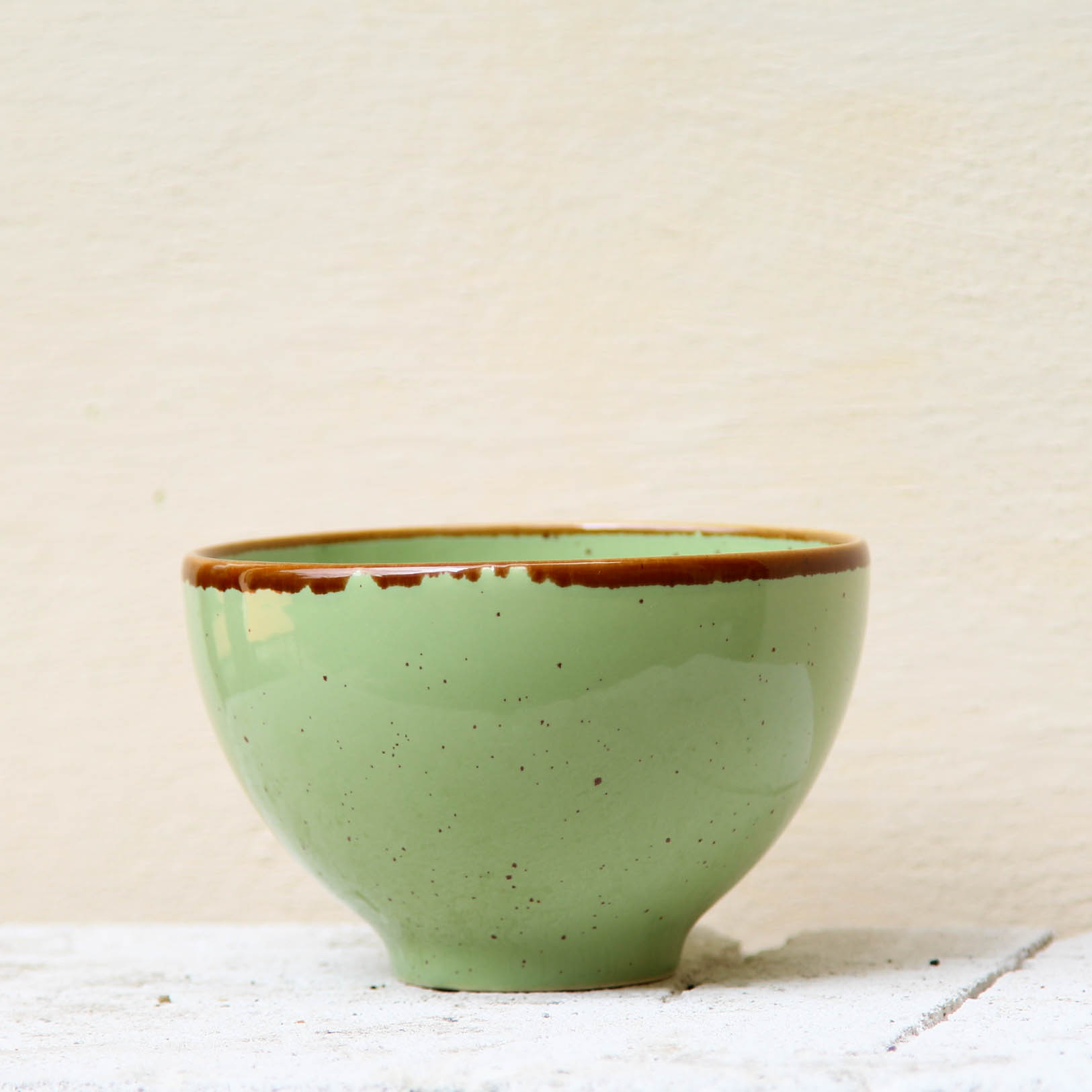 Bol Gardena din ceramica verde 13 cm chicville 2021