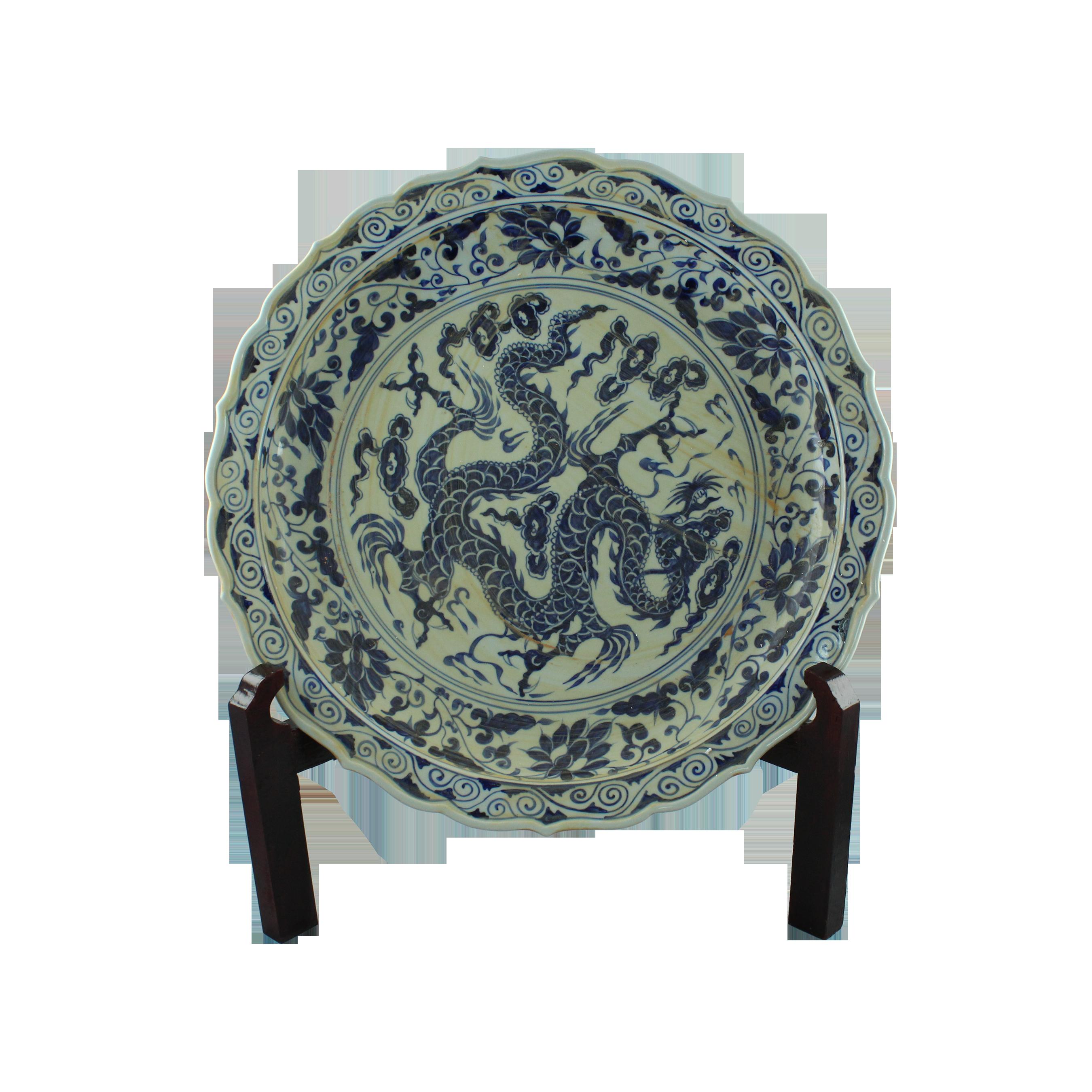 Platou decorativ rotund din portelan pictat chicville 2021