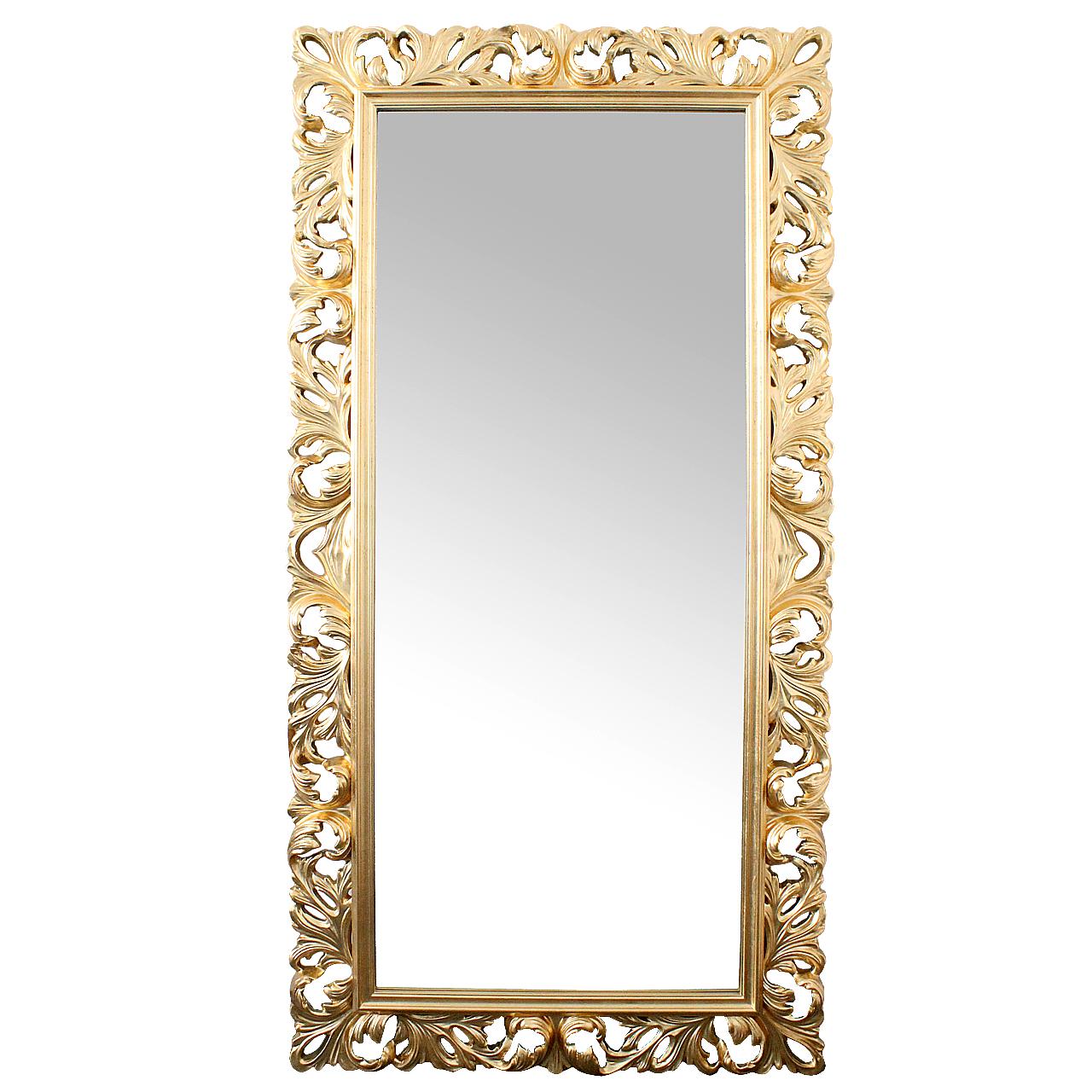 Oglinda cu rama din polirasina auriu 205 cm