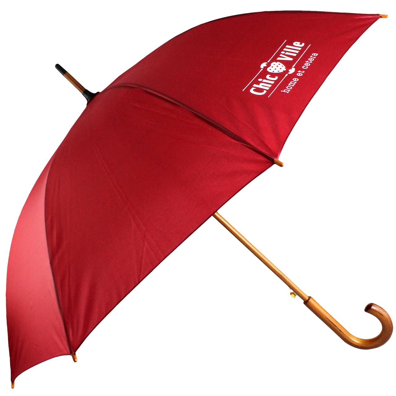 Umbrela din textil visiniu chicville 2021
