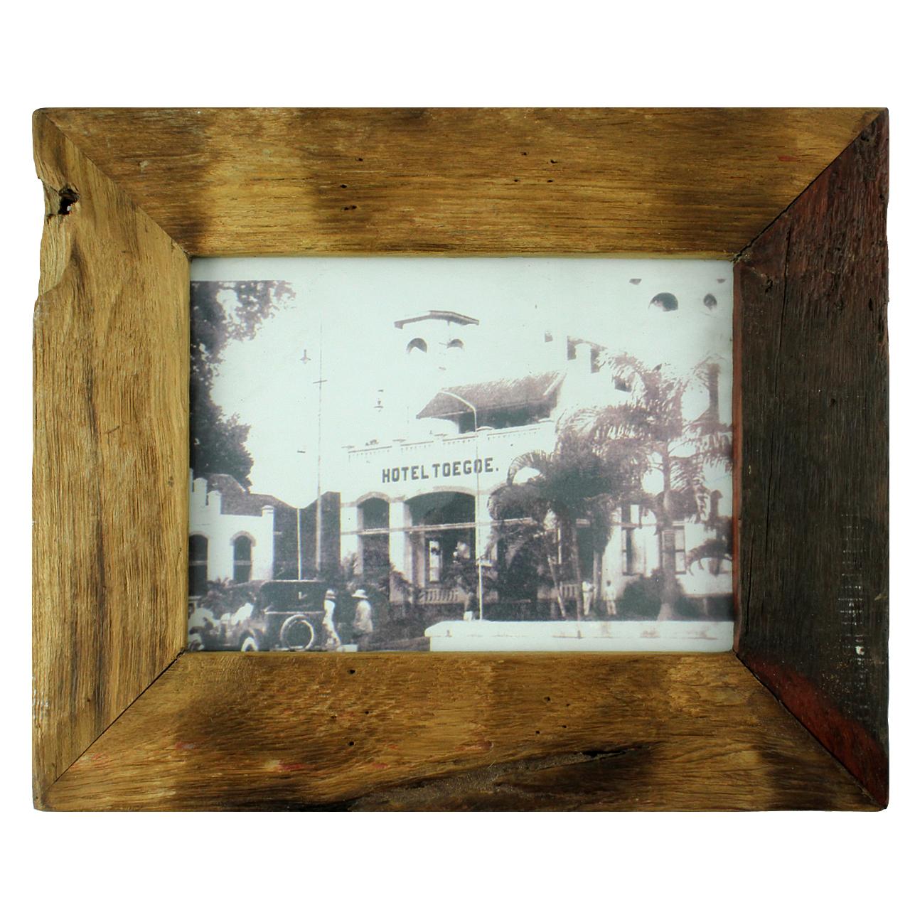 Rama foto dreptunghiulara din lemn natur 43x36 cm( 391619)