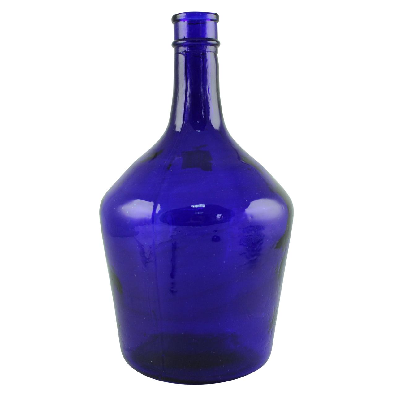 Recipient din sticla albastra 32 cm chicville 2021