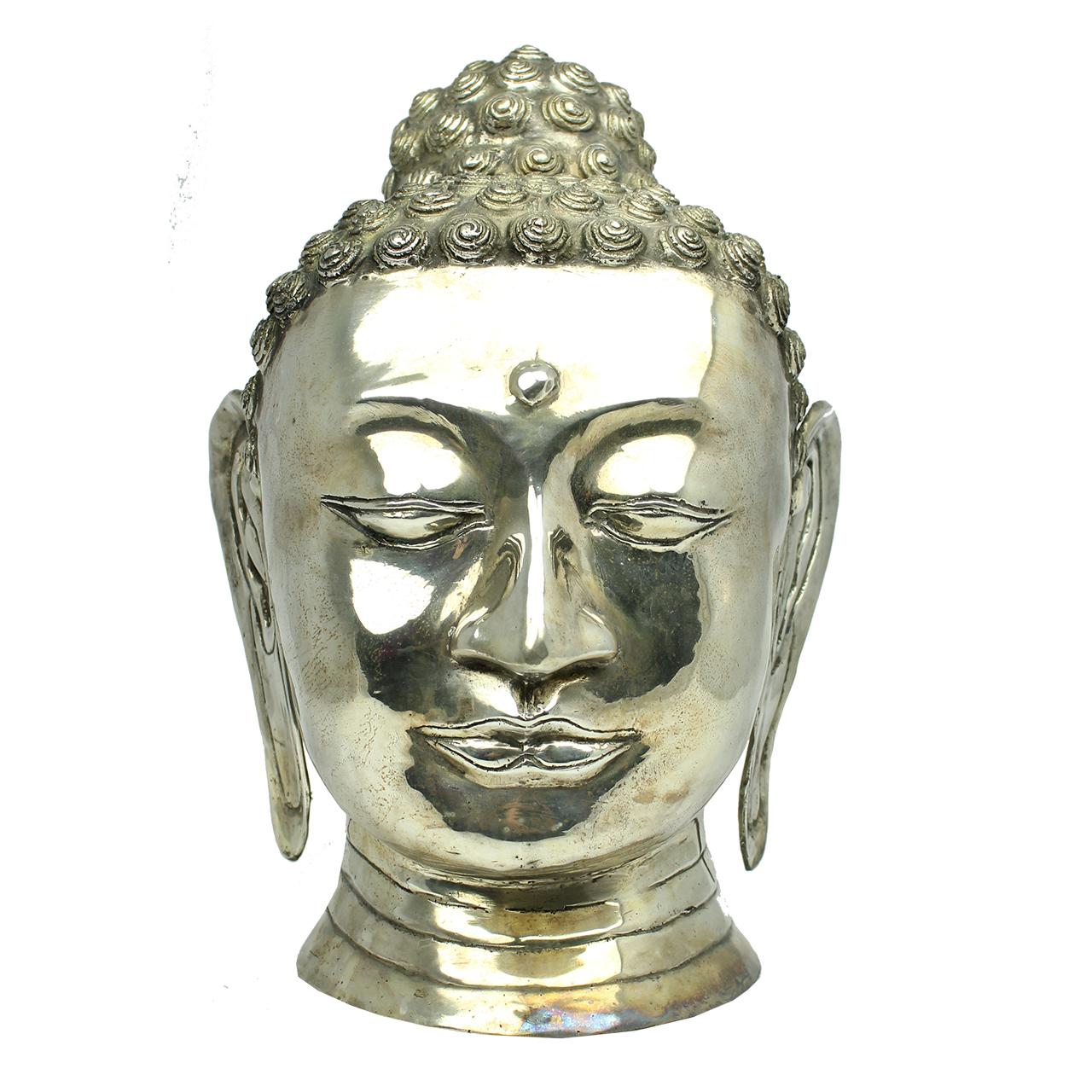 Statueta din alama cap de Buddha 40 cm( 391631)