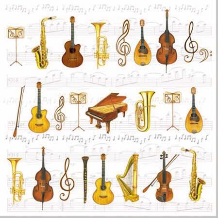 Servetele decorative din hartie cu orchestra chicville 2021