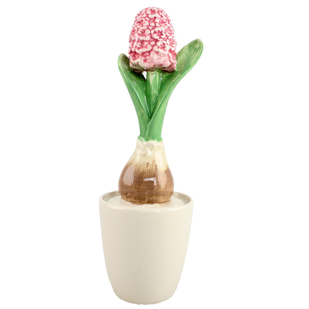 Floare decorativa Ivory zambila in bulb din ceramica 21 cm( 391672)