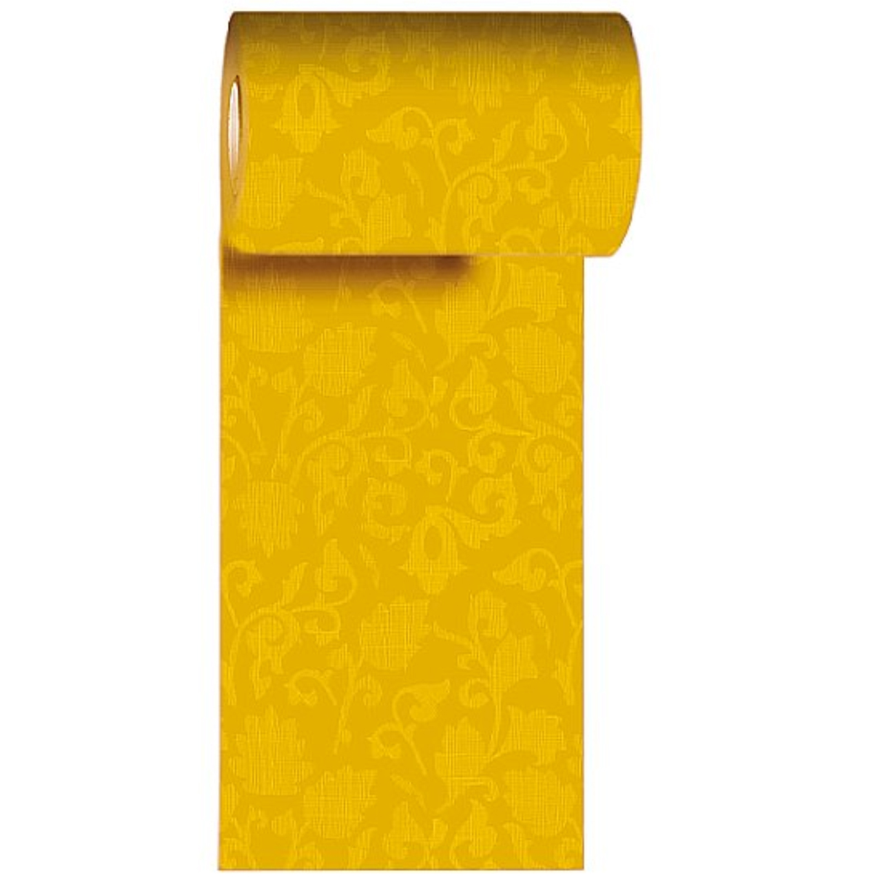 Napron in rola din hartie galbena cu flori 200x15 cm chicville 2021