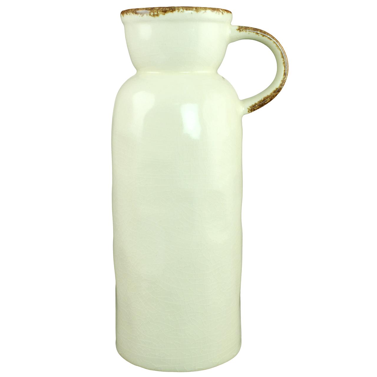 Vaza Grandora din ceramica bej 33.5 cm( 391695)