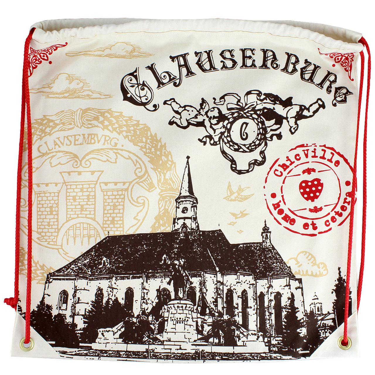 Rucsac cu imprimeu Biserica Sf. Mihail Clausenburg chicville 2021