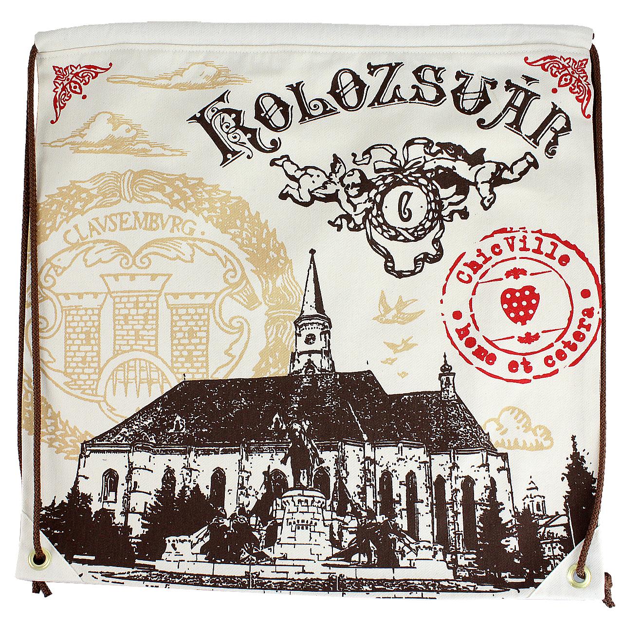 Rucsac cu imprimeu Biserica Sf. Mihail Kolozsvar chicville 2021
