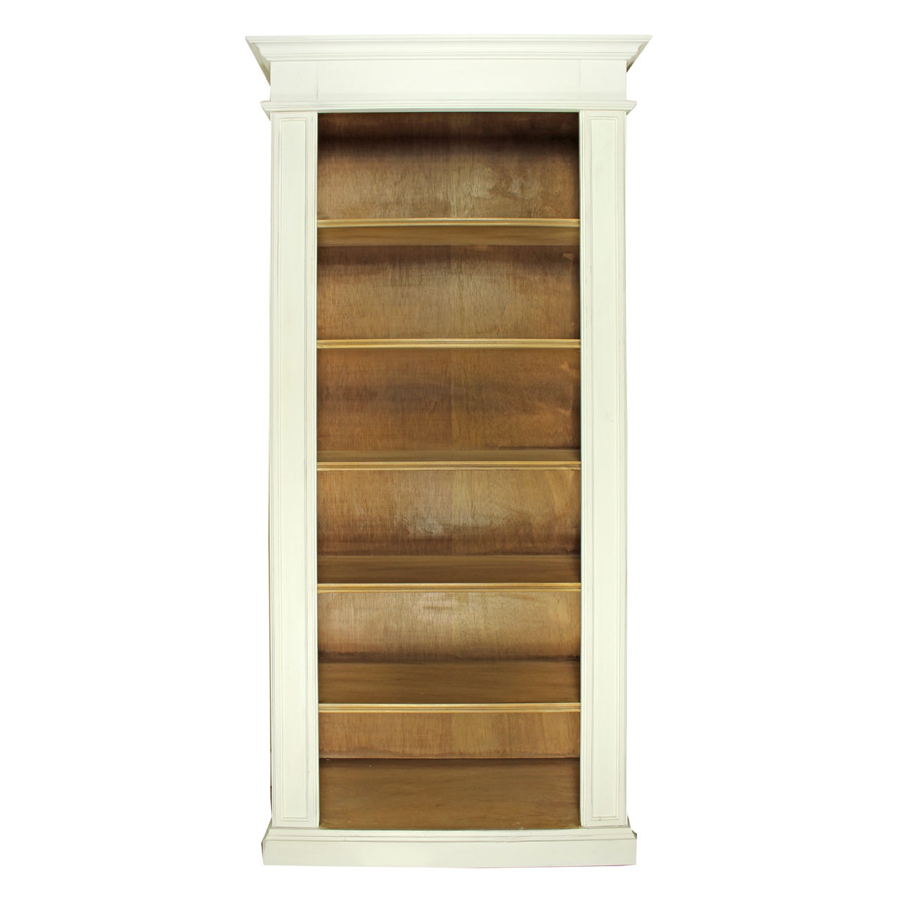 Biblioteca Grace din lemn alb cu maro 93x40x205 cm chicville 2021