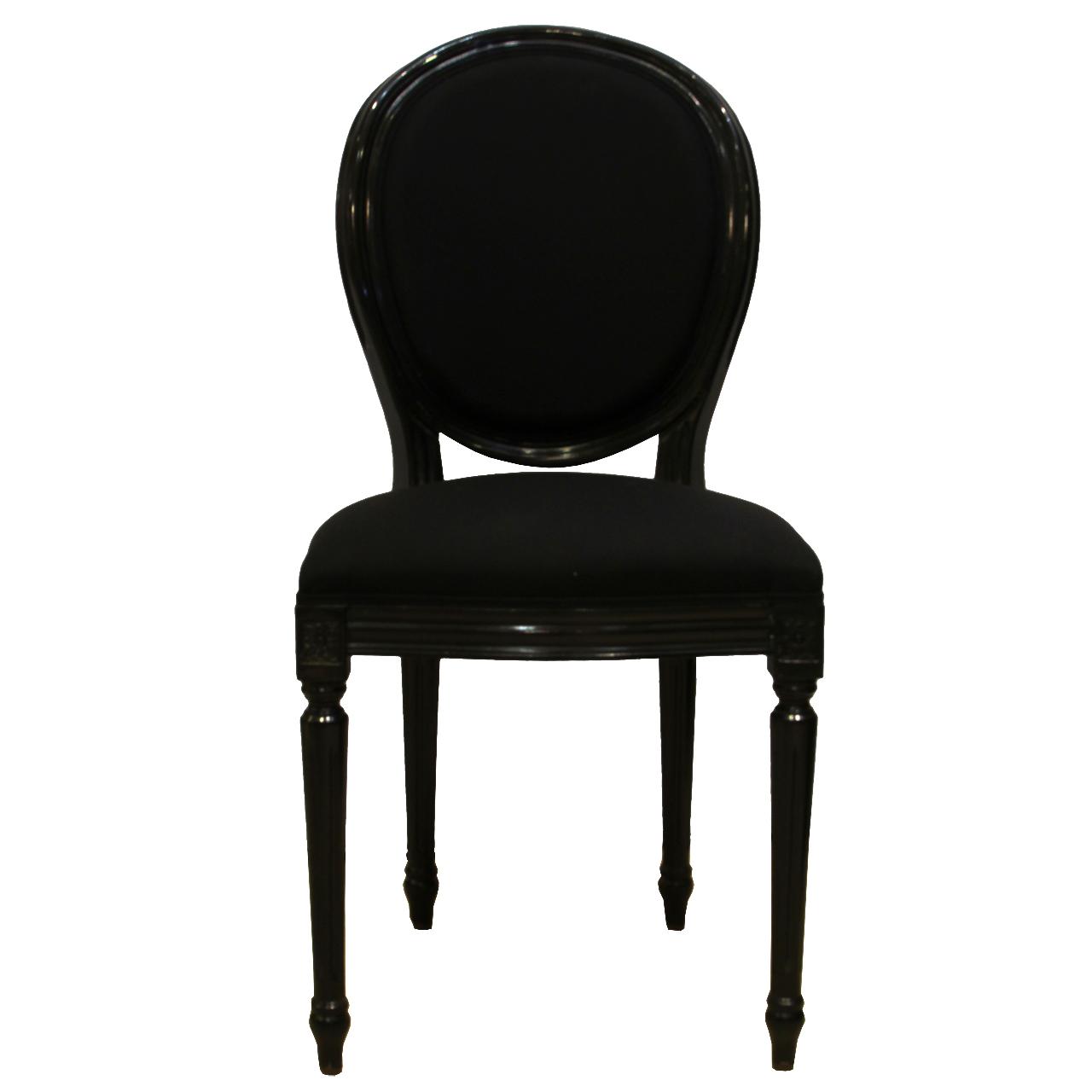 Scaun Louis din lemn negru cu tapiterie la alegere 40x45x96 cm chicville 2021