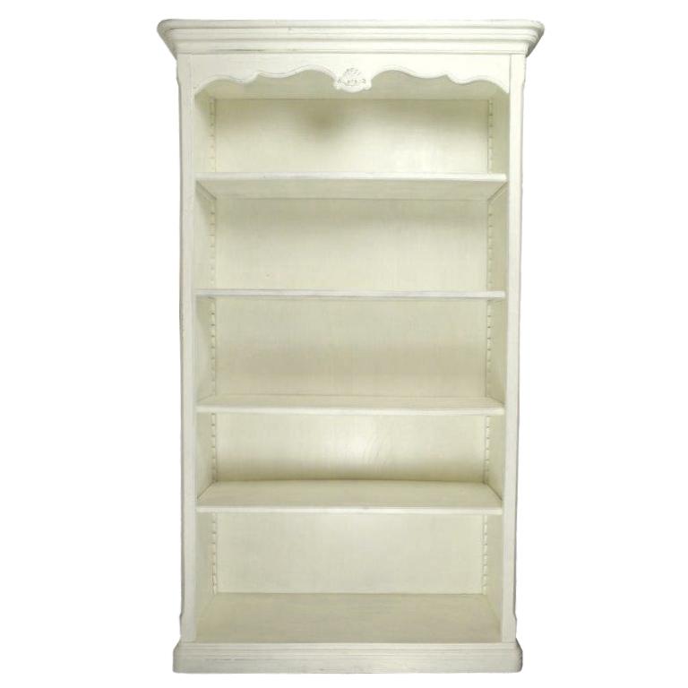 Biblioteca Tresor din lemn alb 120x42x207 cm chicville 2021