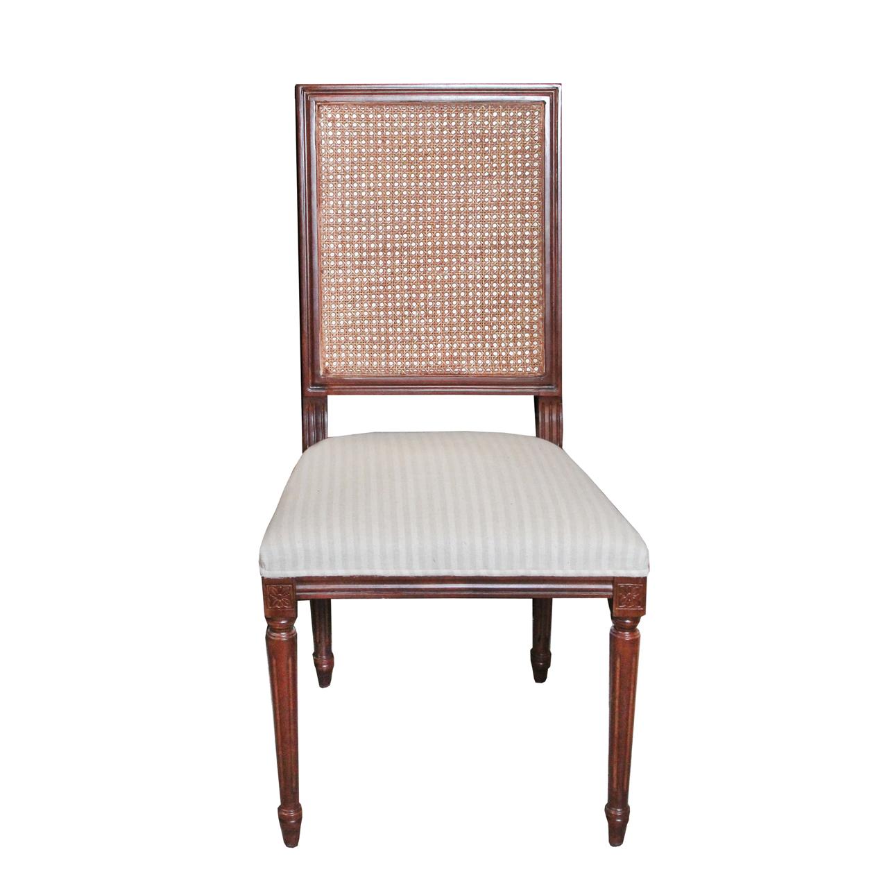Scaun Ludovic din lemn maro si tapiterie bej 51x46x100 cm