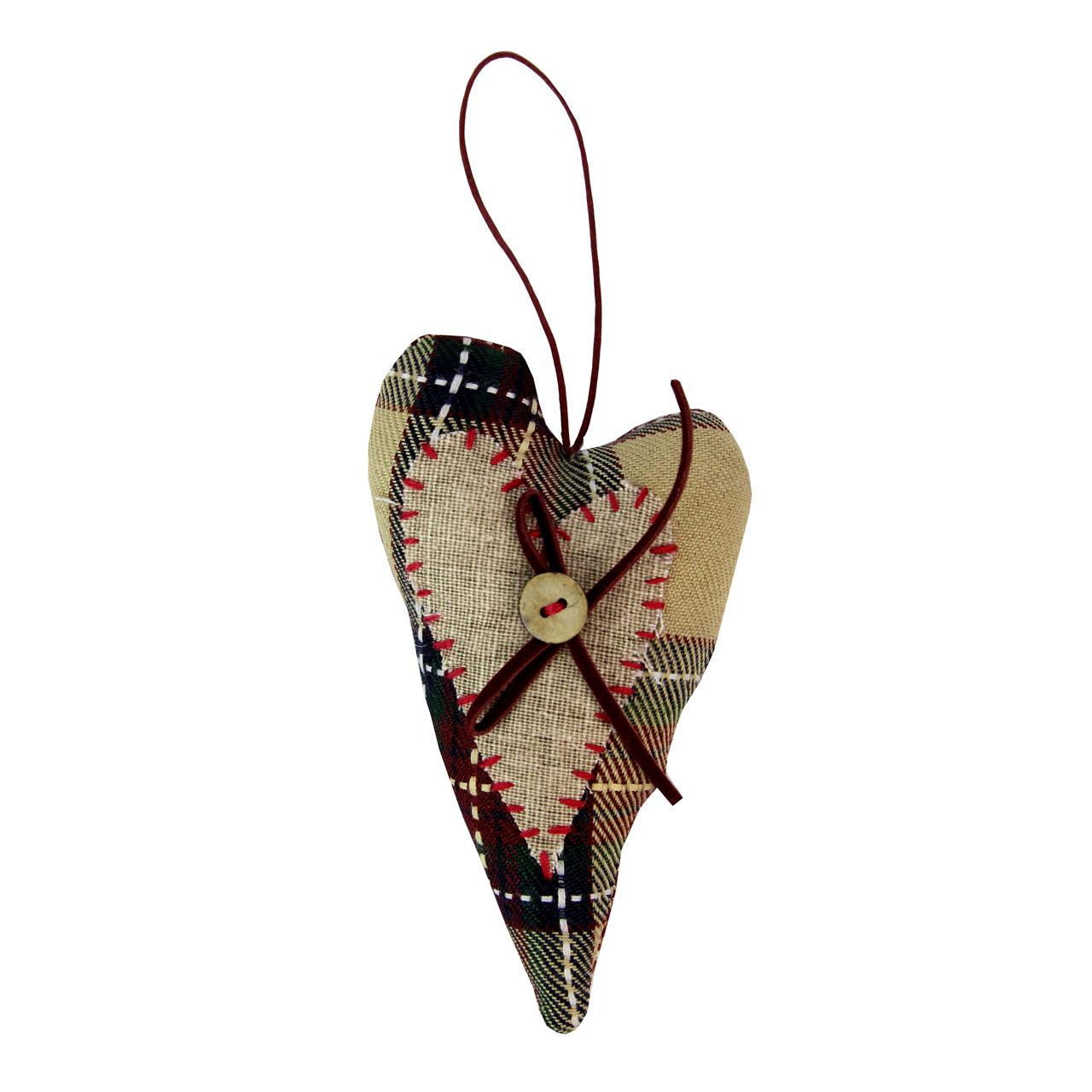 Decoratiune inima din textil 12 cm( 391780)