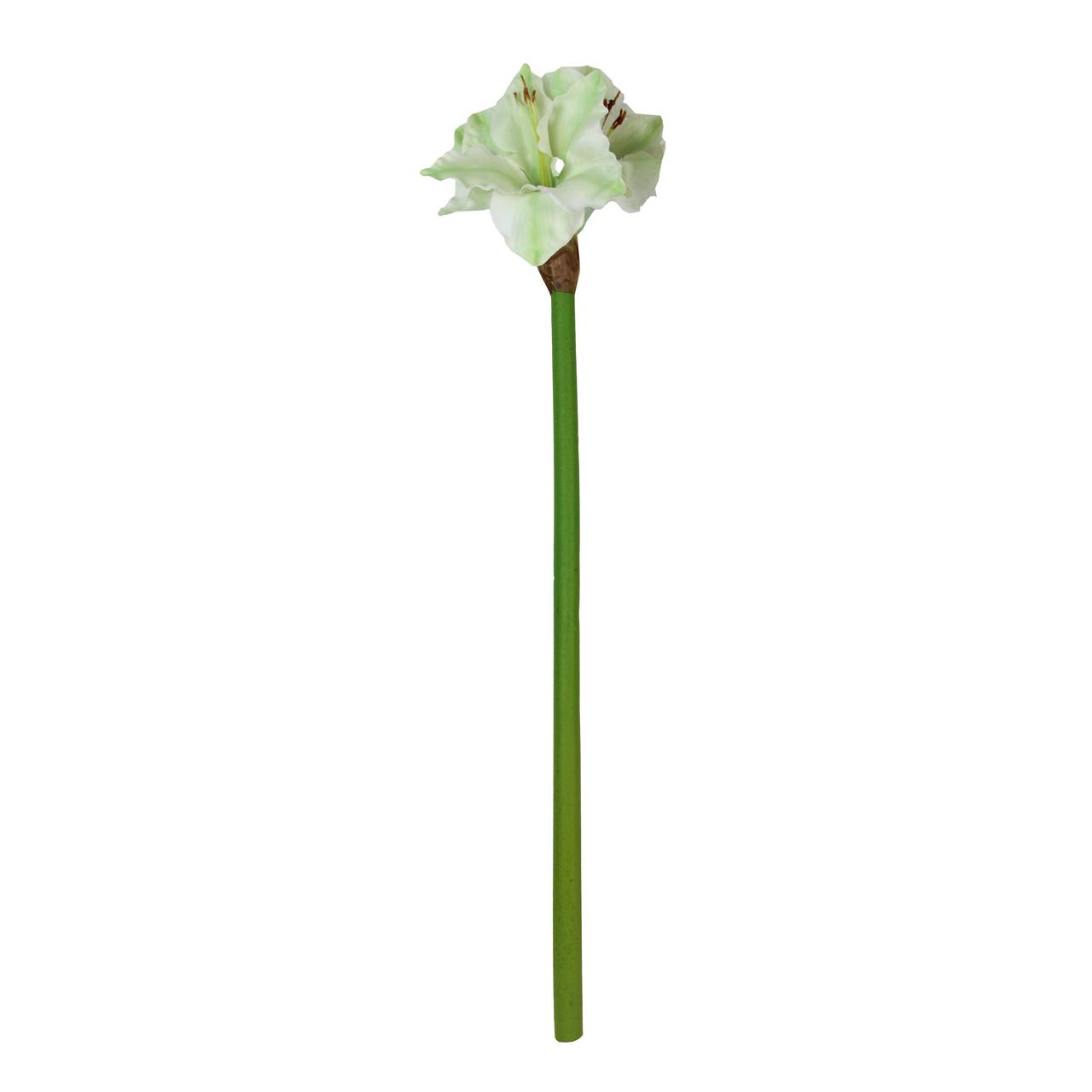 Floare decorativa Amaryllis alba 75 cm( 391788)