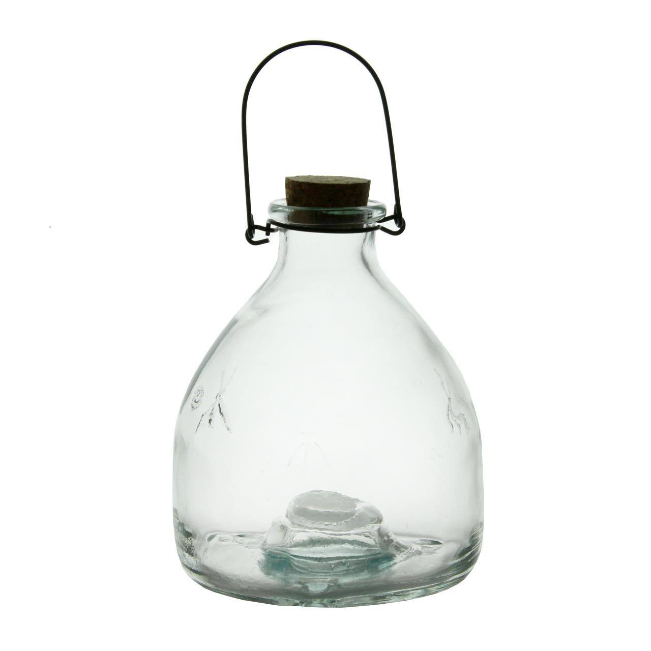 Capcana pentru viespi din sticla cu dop si maner 18 cm chicville 2021
