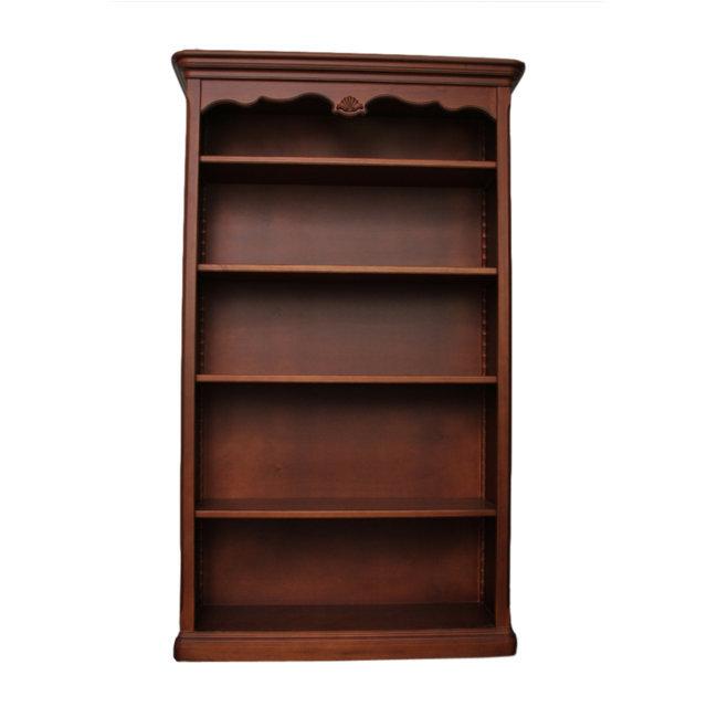 Biblioteca Tresor din lemn maro roscat 120x42x207 cm chicville 2021
