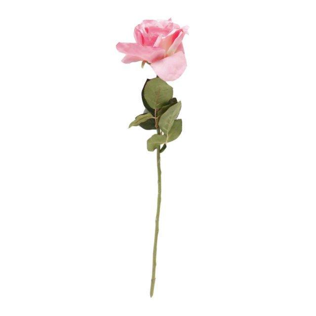 Floare decorativa Trandafir roz 56 cm( 391849)
